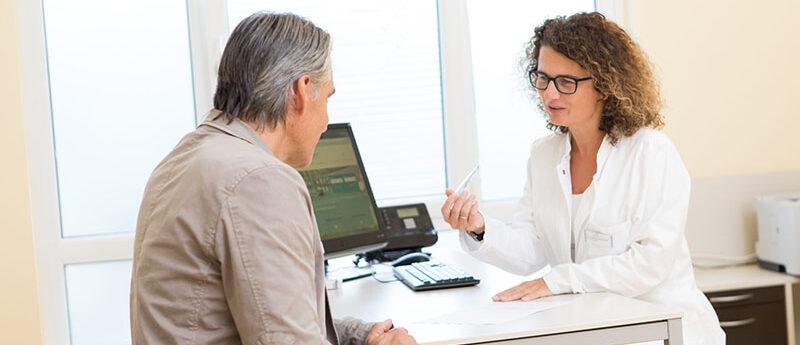 Medizinische Beratung und Arztgespräch