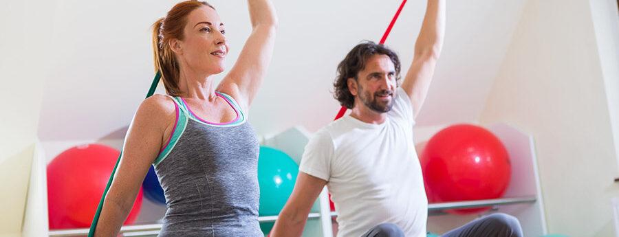 Bewegung Physiotherapie Theraband